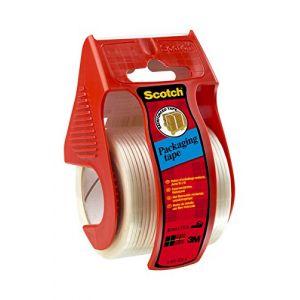 Scotch Ruban adhésif renforcé pour emballage avec dévidoir Transparent 50 mm x 9 m