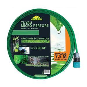 Cap Vert Tuyau d'arrosage souple perforé équipé 7,5 m