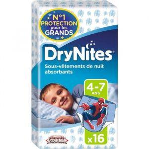 Huggies Drynites sous-vêtements de nuit garçon 4-7 ans - 16 culottes - Lot de 4 paquets de 16