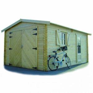 Solid S8944 - Garage en bois 40 mm 17,07 m2