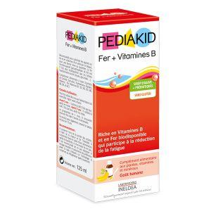 Pediakid Sirop fer + vitamine B goût banane, 125ml