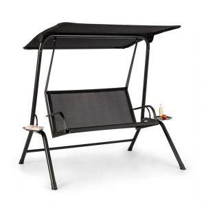 Blumfeldt Bel Air Mono Swing Balancelle avec auvent - cadre acier noir
