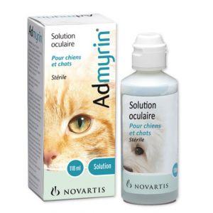 Novartis Admyrin solution oculaire pour chiens et chats 118 ml