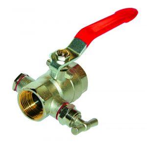EFFEBI Robinet boisseau sphérique laiton batiment à purge FF poignee acier 33x42 PN 25 -