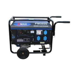 Power maxx Groupe électrogène 5500 W 230 V - Moteur essence 4 temps - Moteur 4 temps : 13 CV - Puissance : 5500 W (max) / 5000W - Carburant : SP98 - Équipé: AVR, 3 prises 230 V