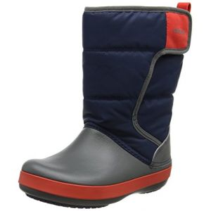 Crocs LodgePoint Snow Boot Kids, Mixte Enfant Bottes, Bleu (Navy/Slate Grey), 33-34 EU