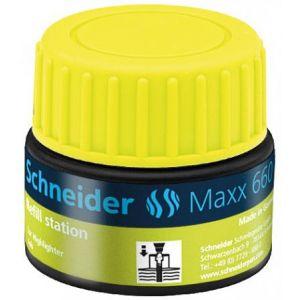 Schneider Electric 166005 - Station de recharge Maxx 660, encre jaune de surligneur