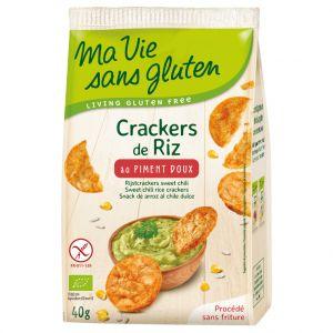 Ma vie sans gluten Crackers de riz au piment doux bio en sachet de 40 g