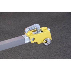 Mottez Antivol tête d'attelage + cadenas - Tube acier galvanisé
