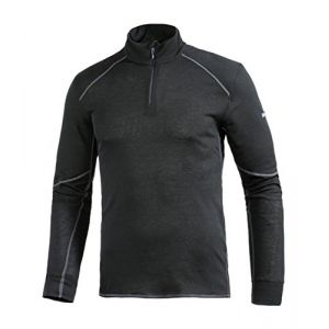 Odlo Shirt ML 1/2 zip X-WARM T-shirt manches longues homme Homme black FR: XL (Taille Fabricant: XL)