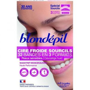 Blondépil 32 bandes dépilatoires pour sourcils