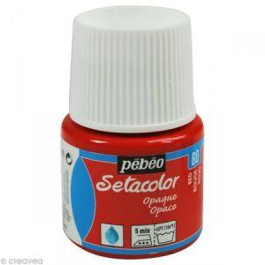Pebeo Peinture tissu Setacolor - Opaque - Rouge - 45 ml