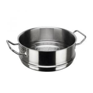 Inoxibar Panier de cuisson à vapeur Ligne Professionnelle en inox - Ø 28 cm - Gris