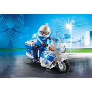 Image de Playmobil 6923 - Moto de policier avec gyrophare