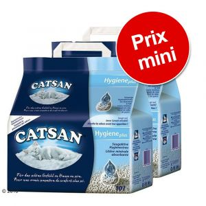 Catsan Agglomérante Plus 2 x 15 L - Litière pour chat