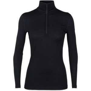 Icebreaker Wmns 200 Oasis LS Half Zip Black Sous-vêtements techniques