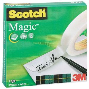 Scotch 8101966R - Rouleau adhésif invisible Magic 810 (19 mm x 66 m)