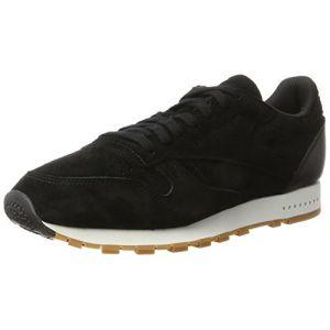 Reebok Classic Leather SG, Baskets Homme, Noir (Black/Chalk-Gum), 41 EU