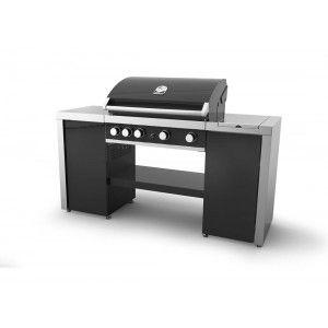 Grandhall Maxim GT4 Island - Cuisine d'extérieur avec barbecue à gaz 4 brûleurs