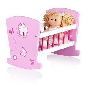 Leomark Berceau en bois classique, lit pour poupée