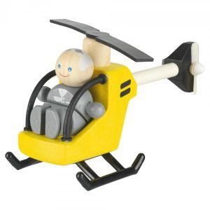 Plan Toys Hélicoptère avec pilote en bois