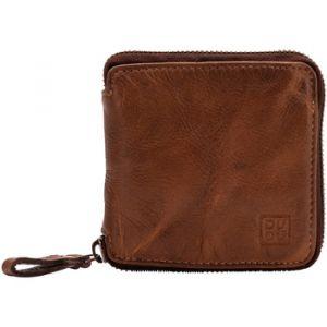 Dudu Portefeuille homme avec fermeture en cuir vintage zip sur 3 côtés avec porte-monnaie et emplacement cartes Onyx Brown
