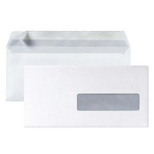 Clairefontaine 500 enveloppes 11 x 22 cm avec fenêtre 3,5 x 10 cm