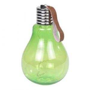 Ampoule a suspendre 11,5x11,5x20cm - Vert anis - Ampoule à suspendre 5 Leds - En acrylique - Dimensions : 11,5x11,5x20cm - Coloris : vert anis.