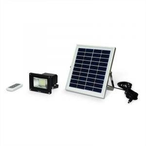 Alice's Garden Projecteur LED 10W avec panneau solaire télécommandé blanc froid, lampe résistante à la pluie et autonome