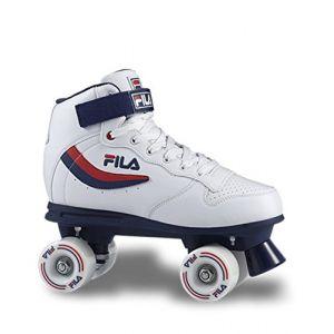 FILA Ace Rollers Quad Adulte Unisexe, Blanc/Bleu, 38