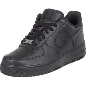 Nike Air Force 1 (gs), Chaussures de Basketball garçon, Noir (Black/Black-Black 009), 37.5 EU