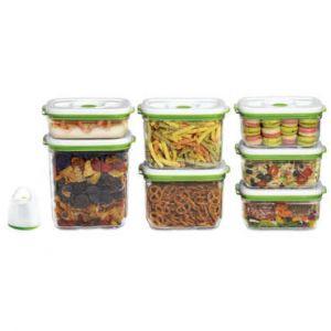Fosa Kit de mise sous vide alimentaire en récipients 3450-2300-1450-1000 ml blanc et vert