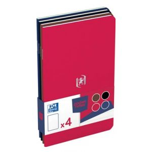 Oxford Lot de 4 carnets pocket notes 48 pages - 9 x 14 cm 90 g