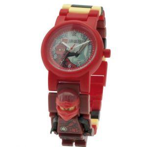 Lego Montre figurine Kai de Ninjago les Mains du Temps pour enfant à construire | rouge/noir | plastique | diamètre du cadran 28 mm | à quartz analogique | garçon/fille | produit officiel