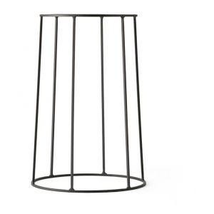 Menu Support / H 40 cm - Pour pot et lampe à huile Wire noir en métal