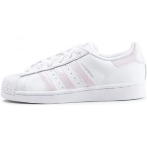 Adidas Superstar Blanche Et Beige Baskets/Tennis Femme