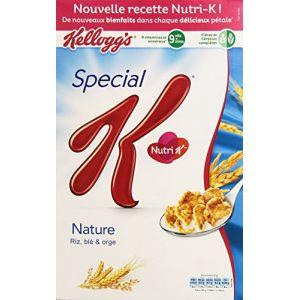 Kellogg's Spécial K Nature - Pétales de riz, blé complet et orge enrichis en vitamines - Le paquet de 440g