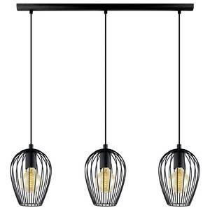 Eglo Lampe suspendue NEWTOWN Noir, 3 lumières - Moderne - Intérieur - NEWTOWN