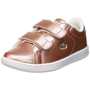 Lacoste Chaussure bebe carnaby evo bb rose blanc 27