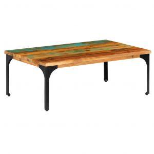 VidaXL Table basse 100 x 60 x 35 cm Bois de récupération solide