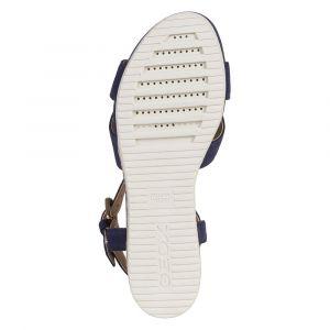 Geox D Ischia Corda, Sandale Femme, Blue, 40 EU