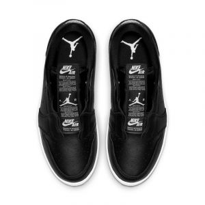 Nike Chaussure Air Jordan 1 Retro Low Slip pour Femme - Noir - Couleur Noir - Taille 39
