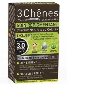 3 Chênes Soin repigmentant cheveux naturels ou colorés - 3.0 châtain foncé