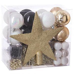 Kit de décoration de sapin de Noël Aspen Or / Noir