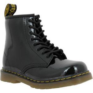 Dr. Martens Delaney, Boots mixte enfant - Noir (Black Patent Lamper) - 35 EU (2.5 UK)