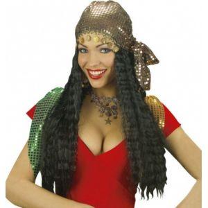 Widmann Perruque gipsy avec foulard femme