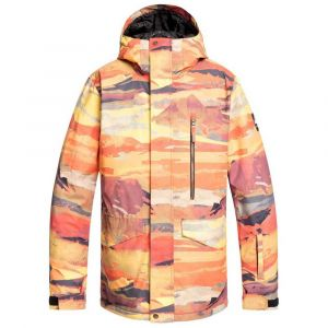 Quiksilver Vestes Mission Printed - Barn Red Matte Painting - Taille S