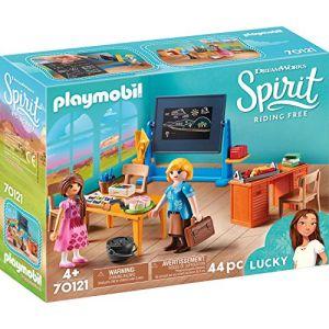 Playmobil Mademoiselle Kate Flores et salle de classe Spirit 70121
