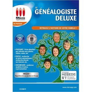 Généalogiste deluxe 2012 [Windows]