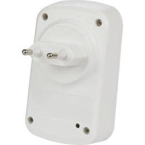 Perel Sonnette sans fil enfichable avec 1 bouton à énergie cinétique